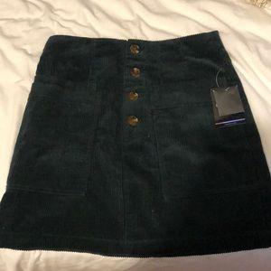forest green corduroy skirt